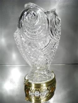 1890-1900 É. Gallé Pour Baccarat Et L'escalier De Cristal Rare Vase Art Nouveau
