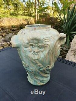 2eme Vase grés ancien Art nouveau Denbac signé dlg mougin Pierrefonds sevres