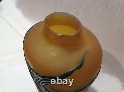 ART NOUVEAU Vase aux nénuphars de Gallé