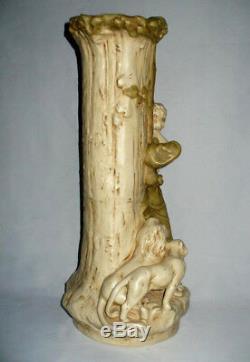 Ancien Grand Vase Porcelaine De Royal Dux Bohemia Apollon mythologie Art Nouveau