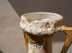 Ancien Grand vase Royal Dux fin XIXème début XXe époque Art nouveau