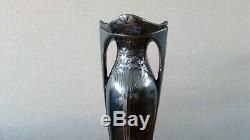 Ancien Vase Art Nouveau Christofle Gallia Métal Argenté Jugendstil 1900