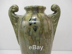 Ancien Vase En Gres Reflex A Labaune Digoin Art Nouveau Jugendstil