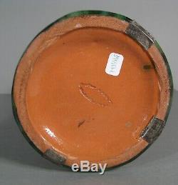 Ancien Vase Style Art Nouveau En Céramique De Vallauris Signé Jérôme Massier