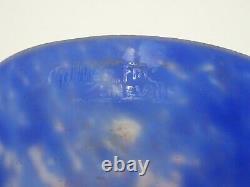 Ancienne Coupe Vase Muller Freres Luneville Pate De Verre Fer Forge Art Nouveau