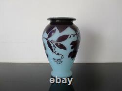 André Delatte grand vase verre multicouche. Art nouveau Pate de verre. Galle