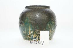 Andre Metthey(1871-1920) Petit Vase En Gres, Ceramic Art Nouveau, Pottery Art Deco
