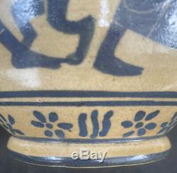 Andre Metthey(1871-1920) Vase En Gres, French Ceramic Art Nouveau Pottery