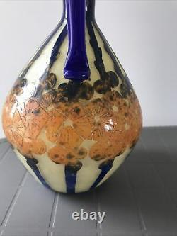 Art Nouveau Vase Aiguière Pichet Schneider Berlingot Le Verre Francais Charder