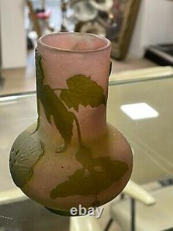 Art Nouveau Vase Emilie Gallé Pate De Verre
