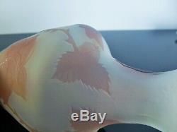 Art Nouveau Vase Pte De Verre Dégagé L'acide Era Daum Galle Signe Ah