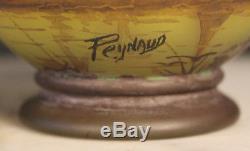 Art nouveau très joli vase en pâte de verre signé Peynaud