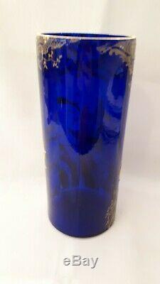Art nouveau- vase émaillé aux jonquilles de Gallé ou Legras