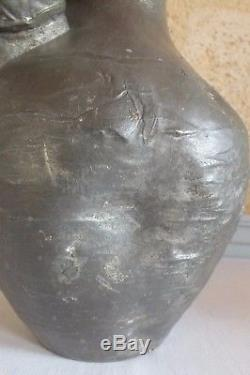 Auguste Moreau vase étain art nouveau pecheur