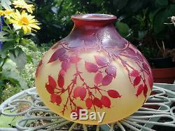 Authentique vase Gallé Art Nouveau