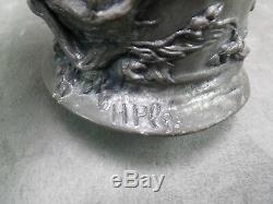 BEAU VASE ART NOUVEAU signé H. Plé, en forme de CHOPE