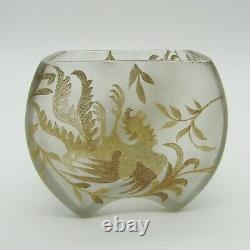 Baccarat, Saint Louis ou Montjoye Vase art nouveau à décor de phnix or, XIXe