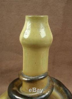 Beau Vase Ceramique De Saint Honore Gres Flamme Serpent Art Nouveau Louis Martin