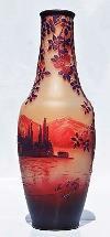 Beau Vase DE VEZ Camille Tutré de Varreux Devez Pâte de Verre Gravé Art Nouveau
