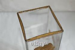 Beau vase en cristal émaillé décor de coquelicots Legras/Montjoye 30cm