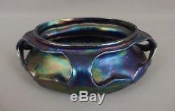 Beau vase jardinière céramique irisée Massier Heliosine iridescent art nouveau