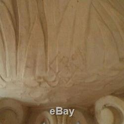 Belle paire de vases terre cuite Art Nouveau signés Emile Roy école de Nancy