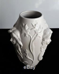 Boch frères La louvière Vase blanc craquelé ca 1920