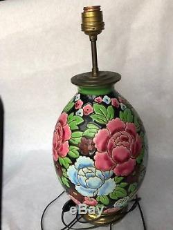 CATTEAU & KÉRAMIS Bosh La Louvière Vase monté en lampe Faïence Art Nouveau Déco