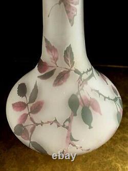 CROISMARE MULLER frères Vase art nouveau papillons gallé-daum-schneider