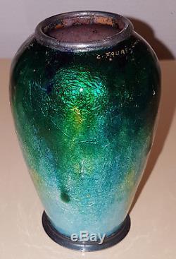 Camille Faure Vase Emaux De Limoges Art Nouveau