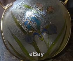 Carl Deffner art nouveau jugendstil circa 1900 vase IRIS