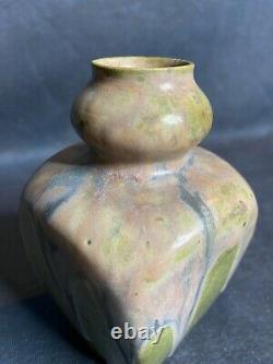 Charles GREBER, petit vase en grès d'poque Art Nouveau 1900