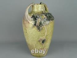 Charles Greber Vase balustre à décor végétalisant en grès Art Nouveau 1920's