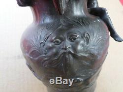 Charles Perron (1862-1934)-Vase-PICHET en étain-ART NOUVEAU-Rêverie-Jugendstil