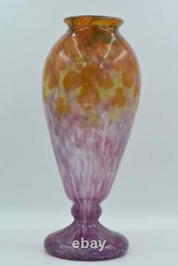 Charles Schneider Grand vase Jade Verre poudré France, vers 1925
