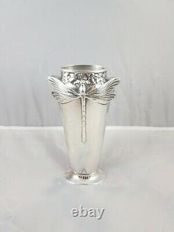 Christofle Vase Libellule Art-Nouveau Réédition
