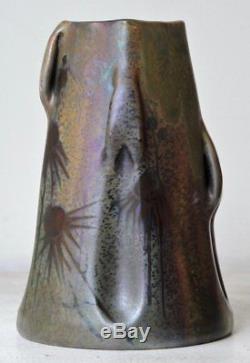 Clément Massier Art Nouveau Iridescent Glazed Earthenware Vase circa 1900