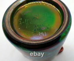 Clement Massier Vase Reflets Metalique Epoque Art Nouveau Golfe Juan