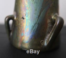 Clément Massier précieux vase céramique irisé ART NOUVEAU japonisme