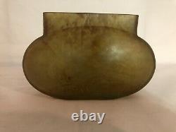 Coupe vase Daum Nancy Pate De Verre ancien Croix De Lorraine 1900 Art Nouveau