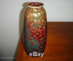 Dalpayrat grand vase en gr s rouge sang de boeuf art - Couleur rouge sang de boeuf ...