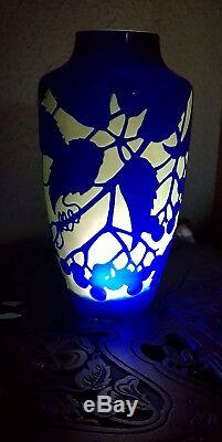 DARGENTAL Superbe vase de style Art nouveau