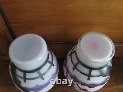 DAUM Paire de vases décor japonisant (ART NOUVEAU)