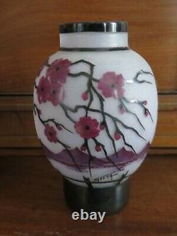 DAUM Vase décor japonisant grand (ART NOUVEAU)