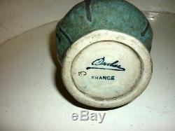 DENBAC rare vase en grès Art nouveau Signé