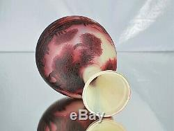 DEVEZ Beau Vase Camille Tutré de Varreux De Vez Verre Gravé ART NOUVEAU Gallé