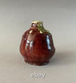 Dalpayrat, petit vase sang de boeuf. Décor naturaliste. French art nouveau