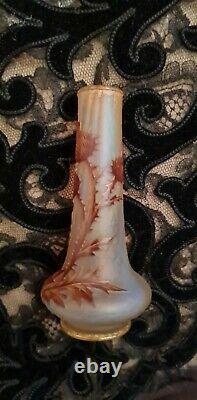 Daum Nancy. Art Nouveau. Vase aux chardons