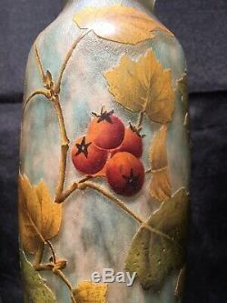 Daum Nancy Grand Vase Aux Baies De Rose Dépoque Art Nouveau gallé lalique