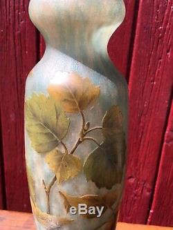 Daum Nancy Vase Aubépines Aux Baies De Rose Dépoque Art Nouveau gallé